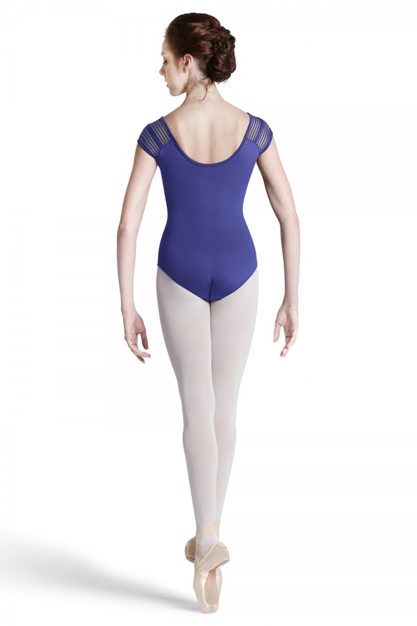 image - Lace Trim Cap Slv Women's Dance Leotards