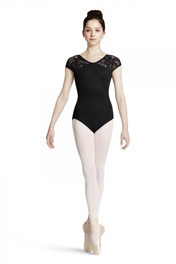 image - Plume Shoulder Cap Sleeve Women's Dance Leotards