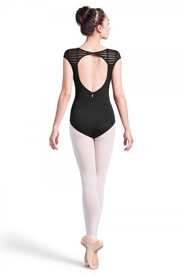 image - Keyhole Back Cap Sleeve Leotard Women's Dance Leotards