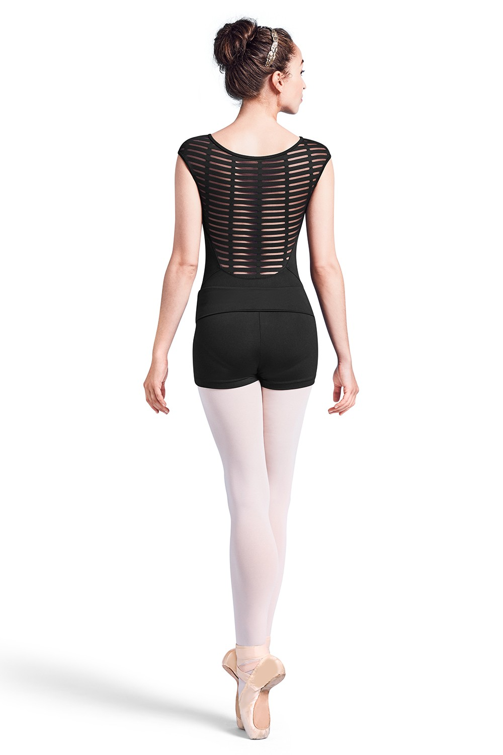 Justaucorps Sans Manches Avec Maille Au Dos Womens Short Sleeve Leotards