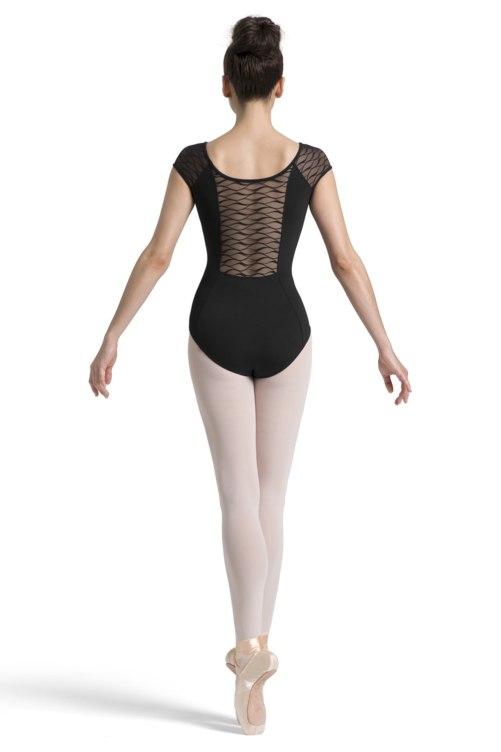 Wave Mesh Cap Sleeve Leotard Women's Dance Leotards