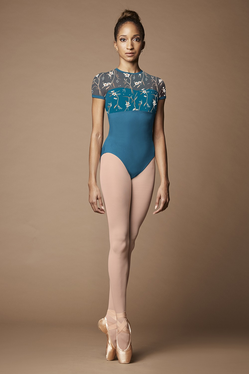 Wild Bloom Cap Sleeve Leotard Women's Dance Leotards
