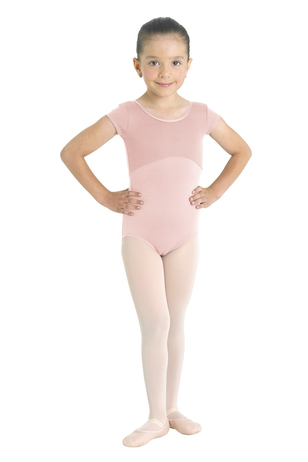 Ribbed Bodice Cap Sleeve Leotard Children's Dance Leotards