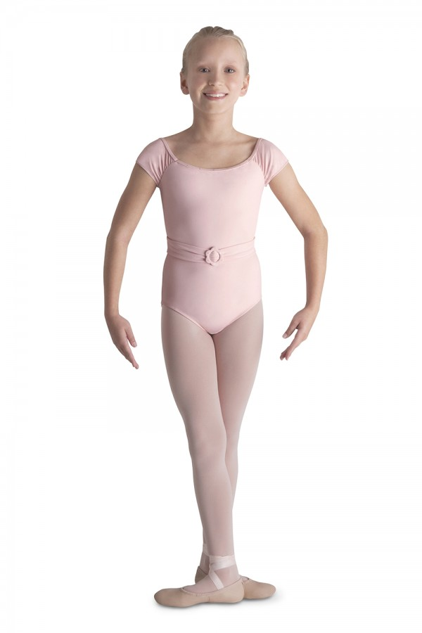 image - Belted Cap Sleeve Leotard Children's Dance Leotards