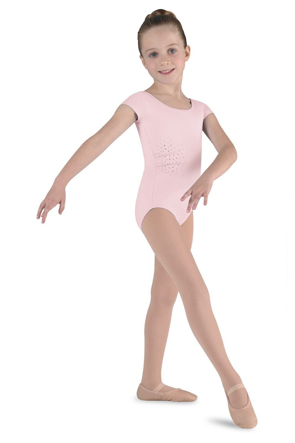Diamante Cap Sleeve Children's Dance Leotards