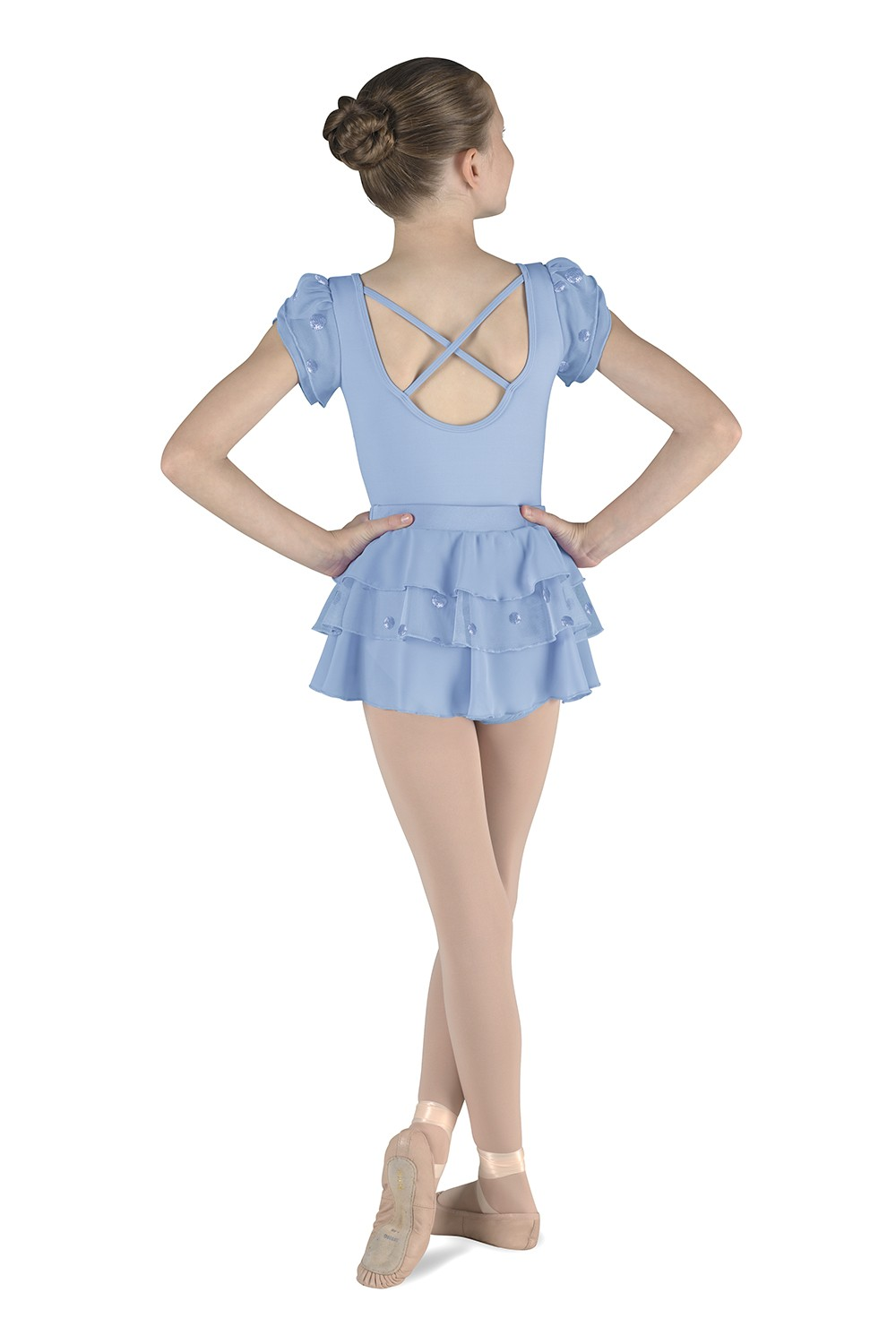 Layered Puff Sleeve Leotard Children's Dance Leotards