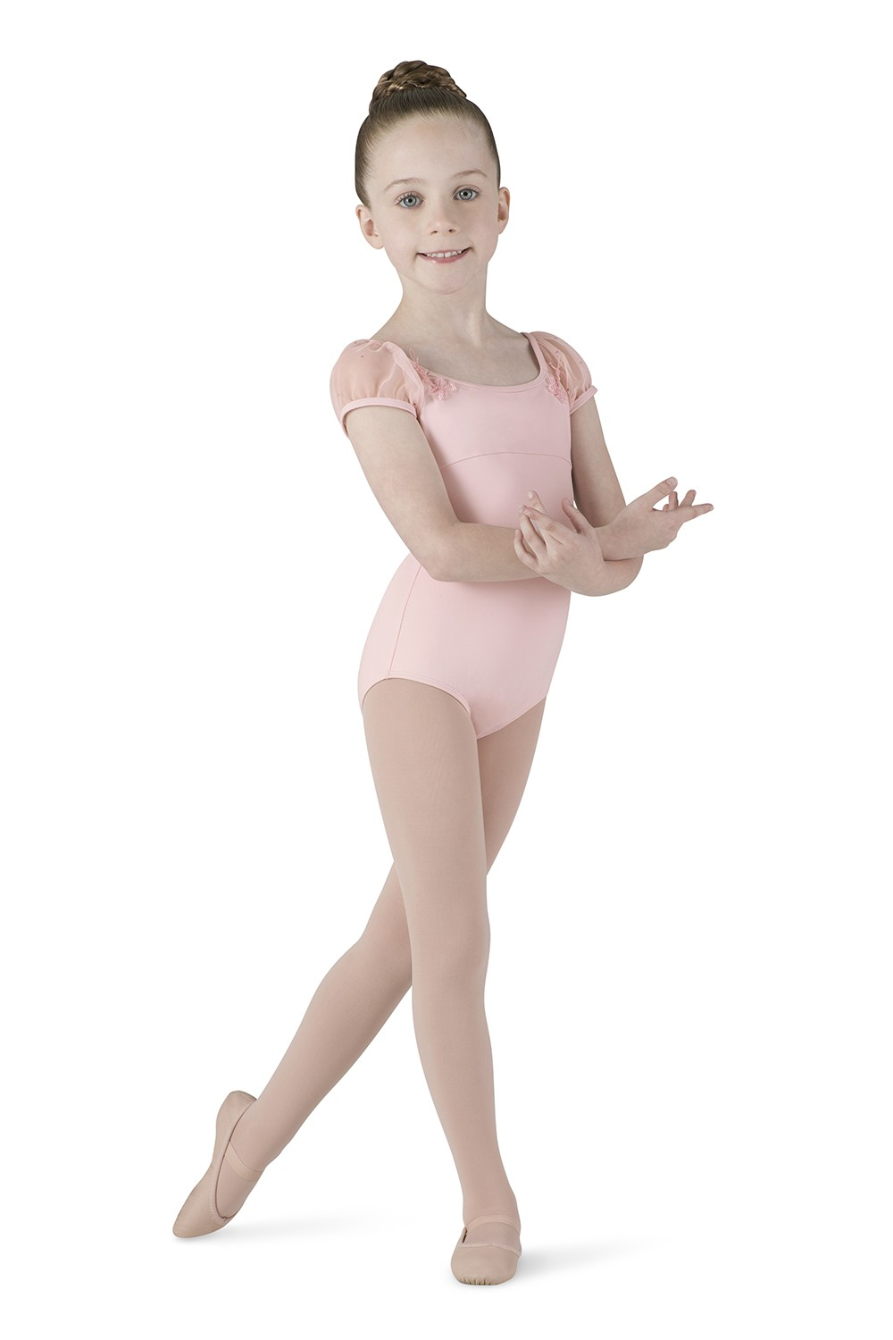 Mesh Cap Sleeve Leotard Children's Dance Leotards