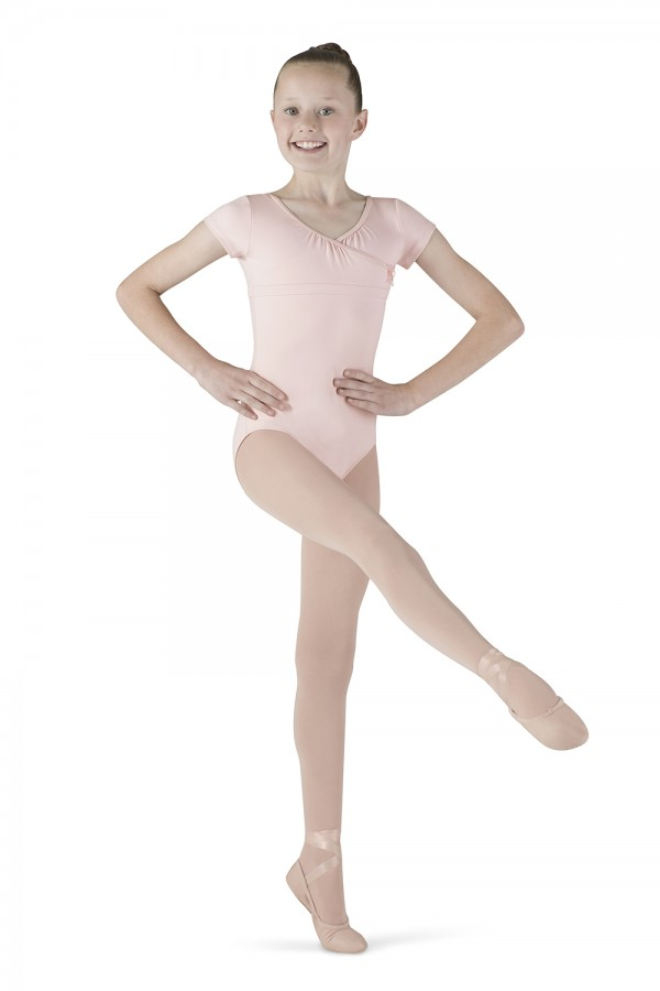 image - Wrap Top Cap Sleeve Children's Dance Leotards