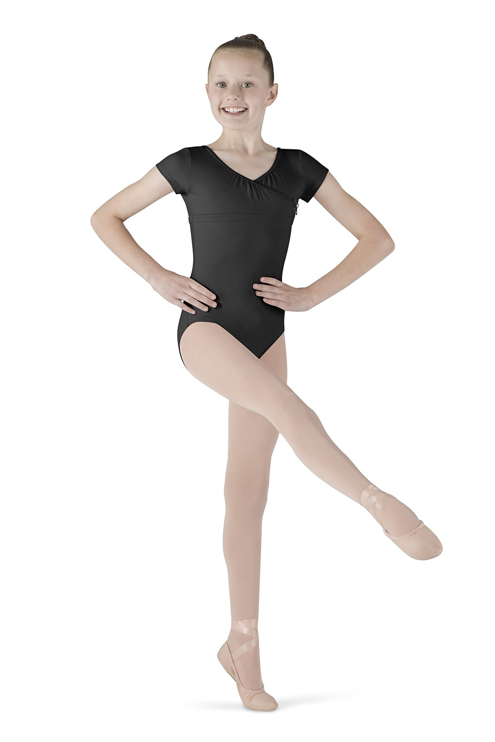 Wrap Top Cap Sleeve Children's Dance Leotards
