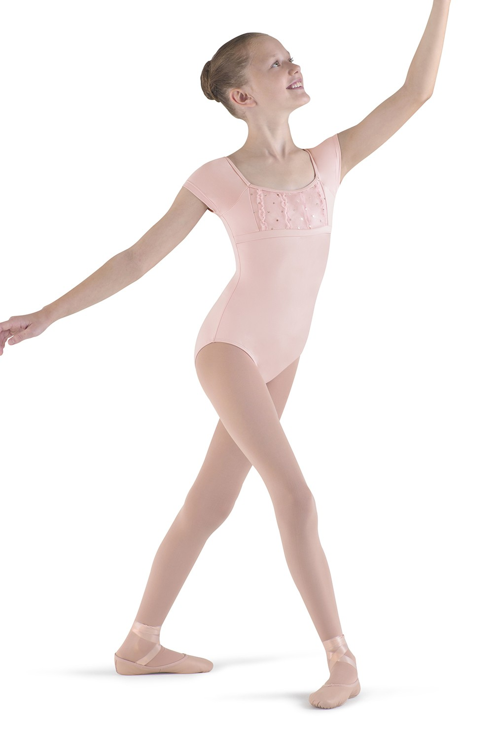 Frill Front Cap Sleeve Children's Dance Leotards