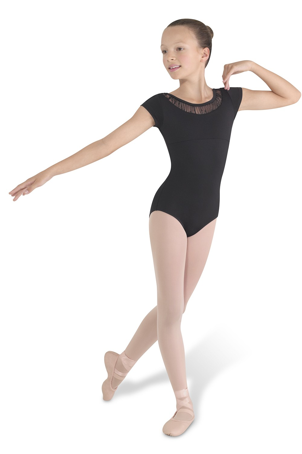 Yoked Cap Sleeve Leotard Children's Dance Leotards