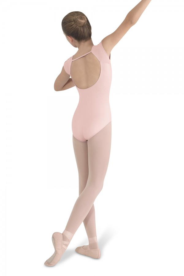 image - Lace Trim Cap Sleeve Children's Dance Leotards