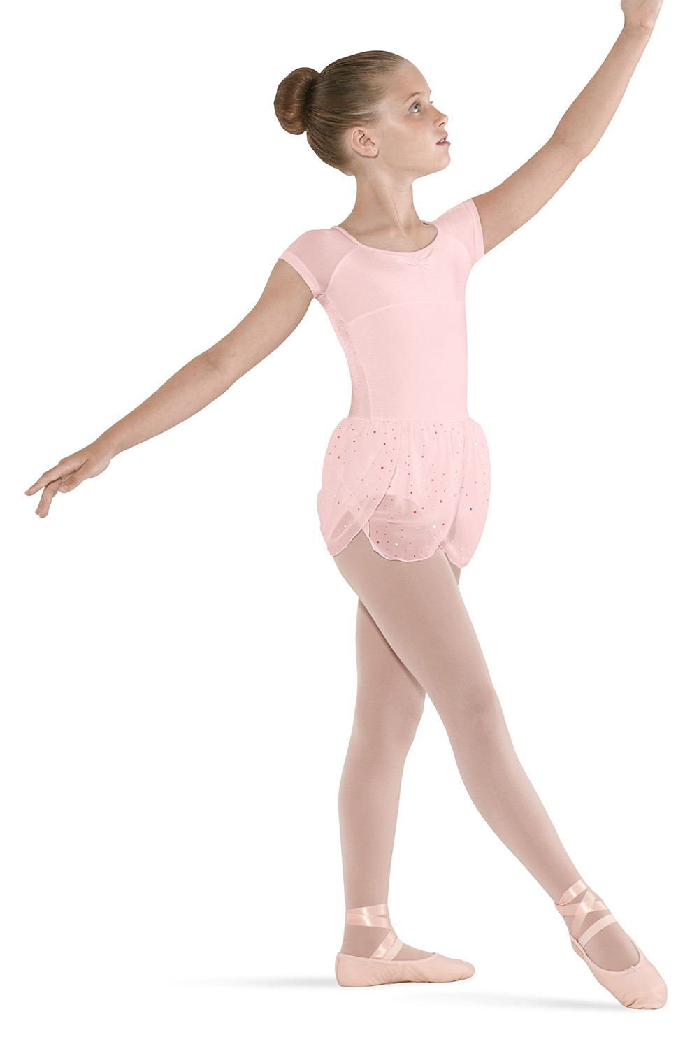 Petal Skirted Cap Sleeve Children's Dance Leotards