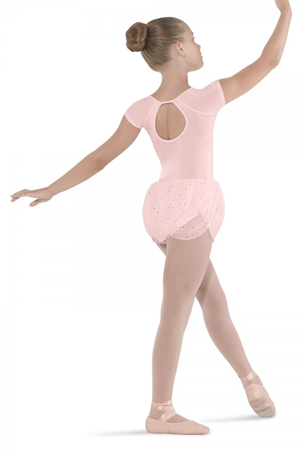 image - Petal Skirted Cap Sleeve Children's Dance Leotards
