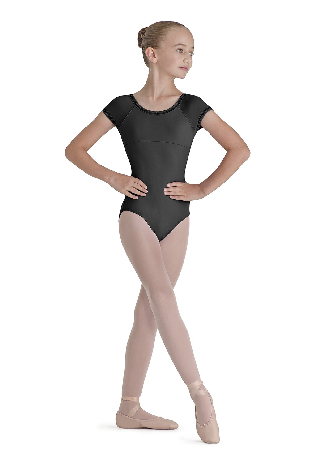 Lattice Trim Cap Sleeve Children's Dance Leotards