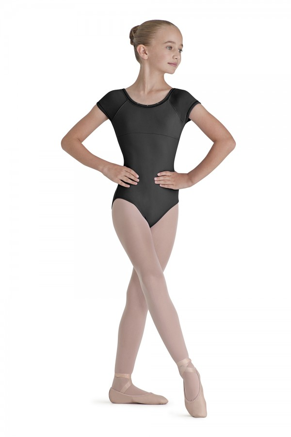 image - Lattice Trim Cap Sleeve Children's Dance Leotards