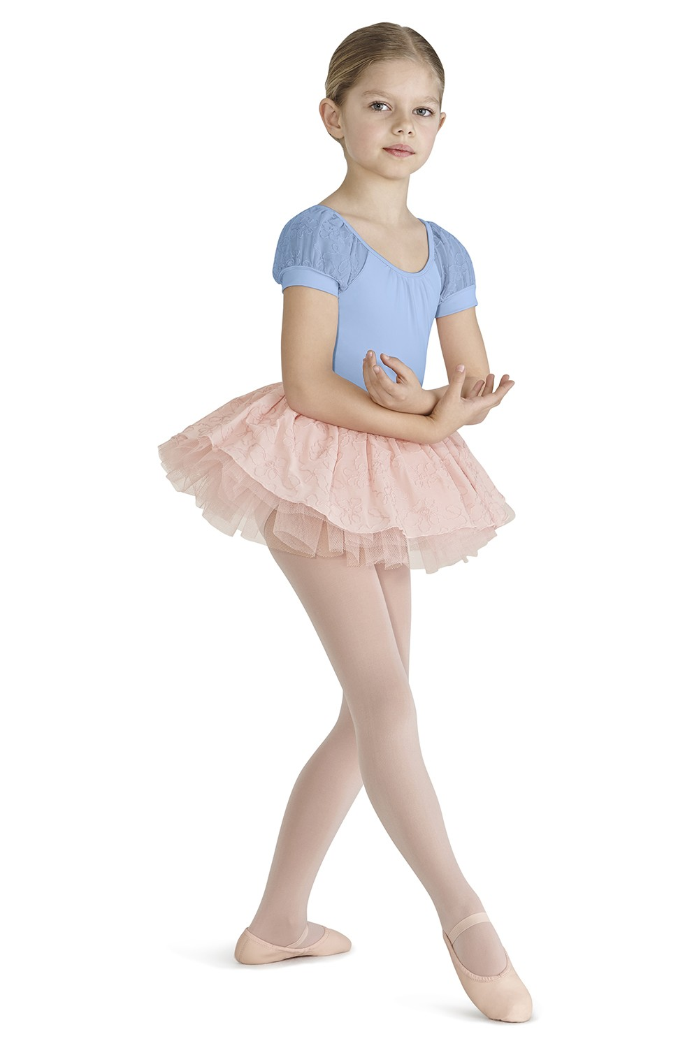 Puff Sleeve X Back Leotard Children's Dance Leotards