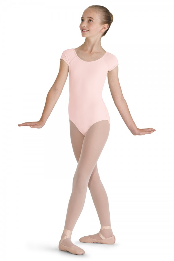 image - Lace Trim Cap Sleeve Leotard Children's Dance Leotards