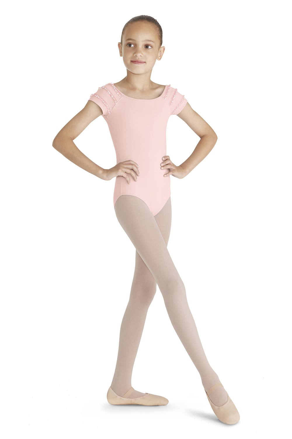 Frill Trim Cap Sleeve Leo Children's Dance Leotards