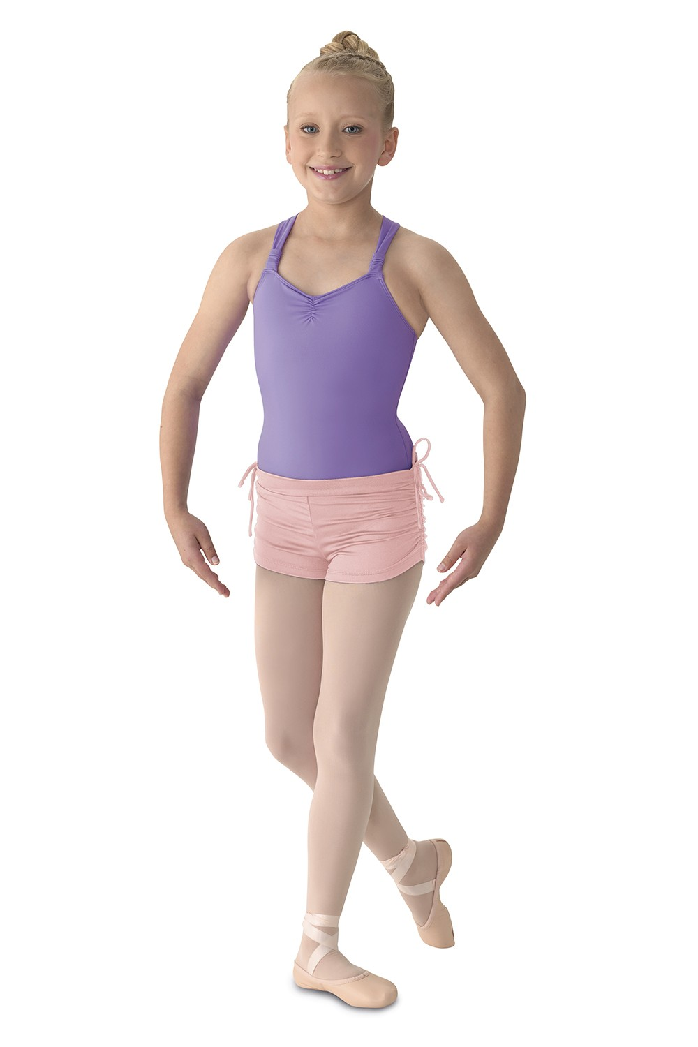 Ruched Side Short Children's Dance Shorts
