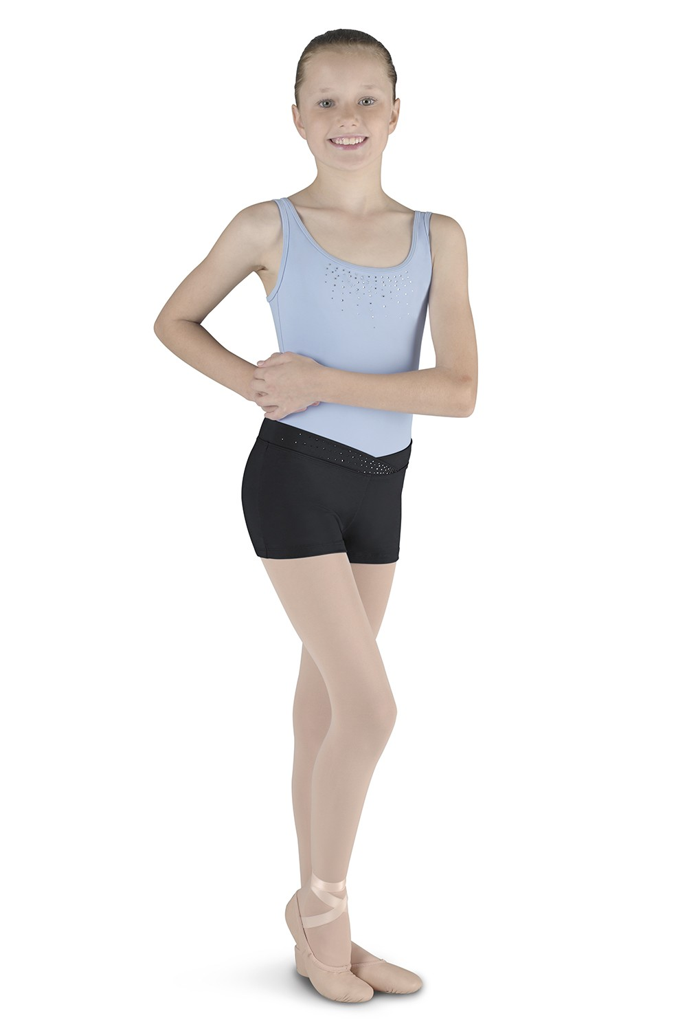 Short With Diamante Children's Dance Shorts