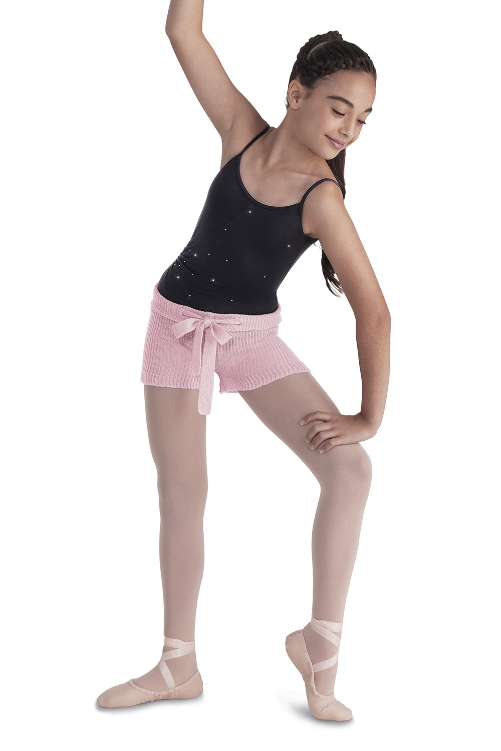 Drawstring Knit Shorts Children's Dance Warmups