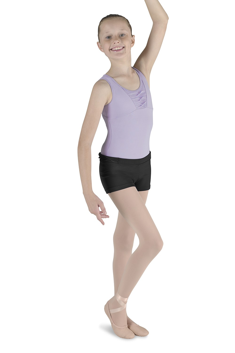 Pinch Pleat Short Children's Dance Shorts