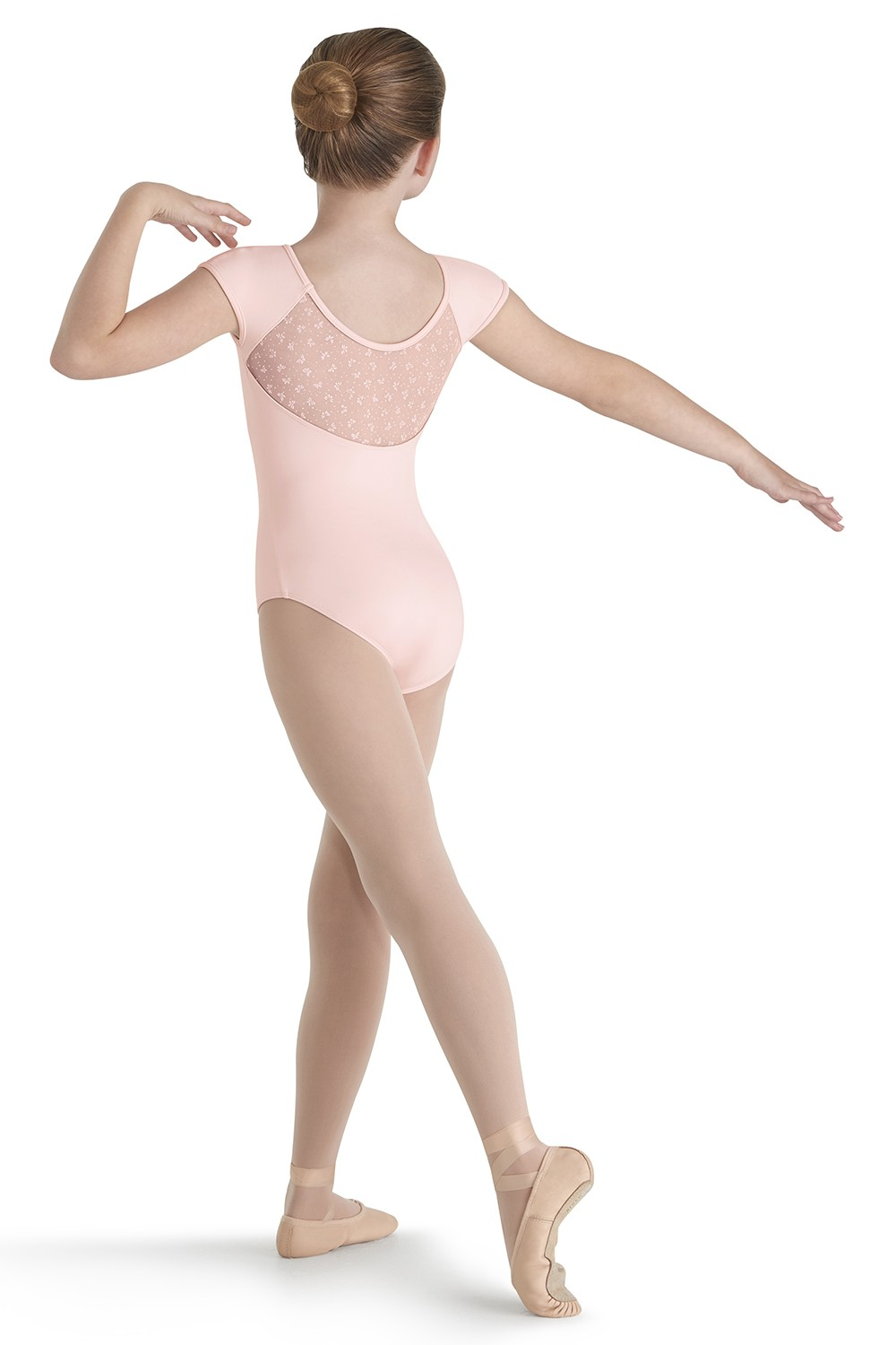 Flock Mesh Cap Sleeve Children's Dance Leotards