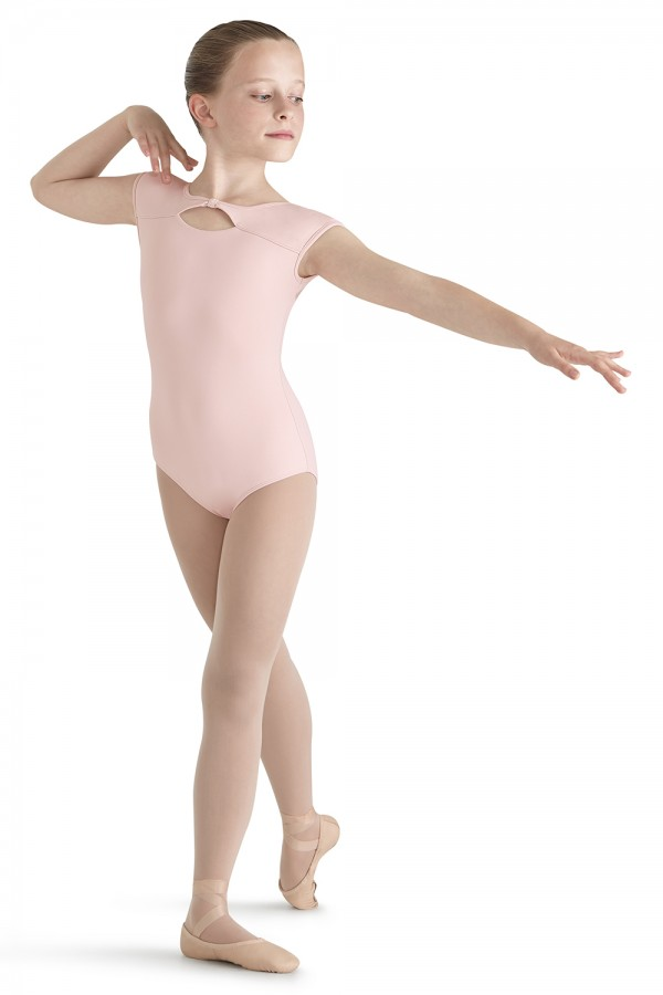 image - Flock Mesh Cap Sleeve Children's Dance Leotards