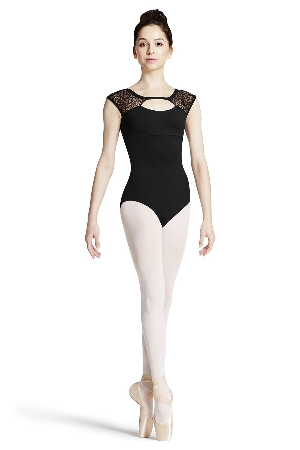 Lace Shoulder Cap Sleeve Leotard Women's Dance Leotards
