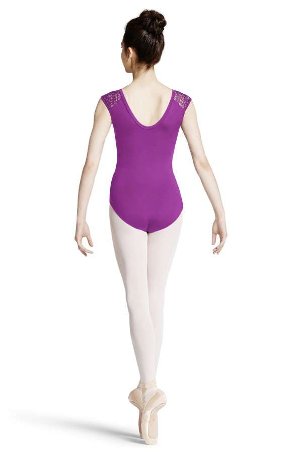 image - Lace Shoulder Cap Sleeve Leotard Women's Dance Leotards