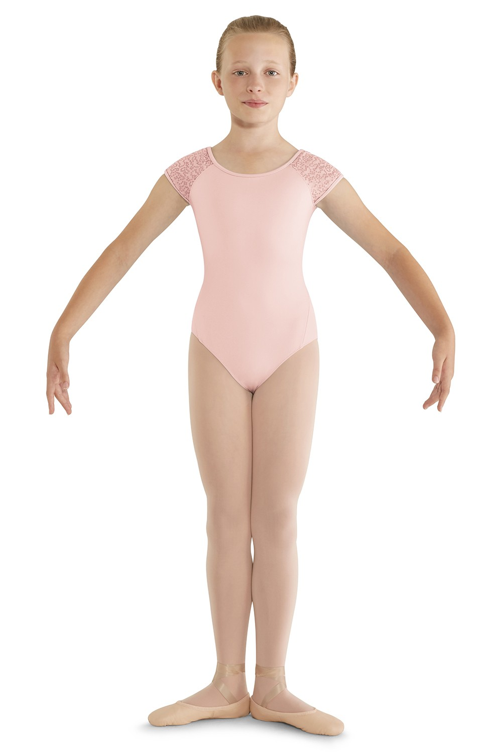 Back Panel Cap Sleeve Leotard Children's Dance Leotards