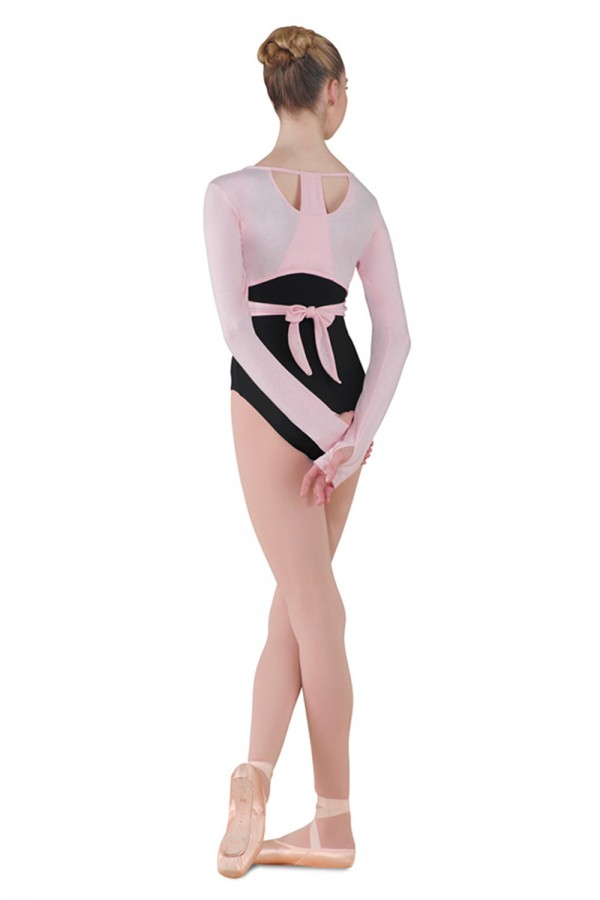 image - Long Sleeve Jersey Wrap Top Women's Dance Tops