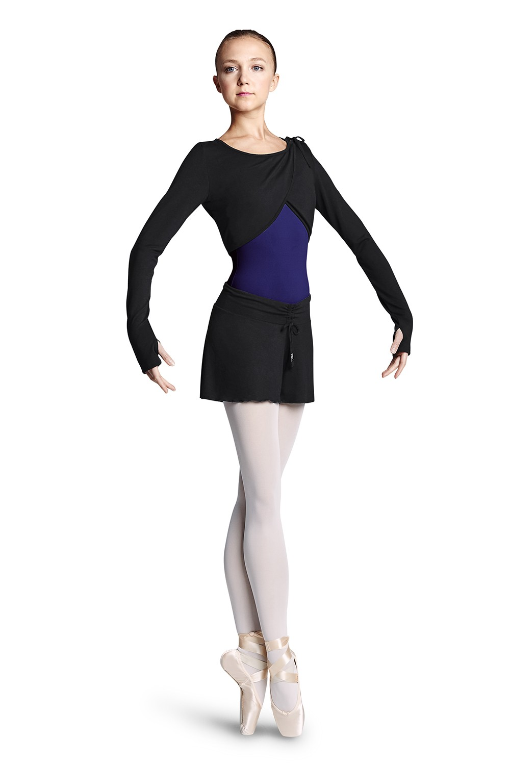 Wrap Top W/shldr Tie Women's Dance Tops