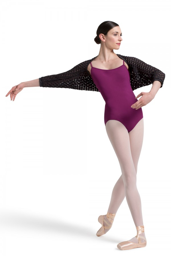 image - Lace 3/4 Sleeve Bolero Women's Dance Warmups