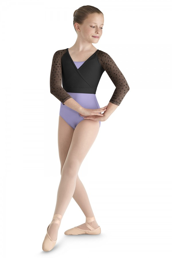 image - Bow Flock Mock Top Children's Dance Tops