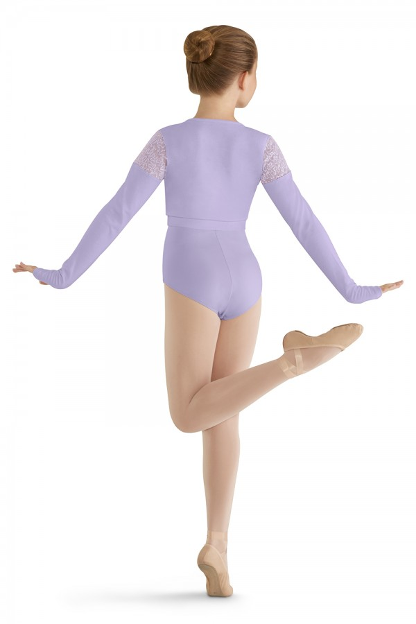 image - Long Sleeve Mock Wrap Top Children's Dance Tops