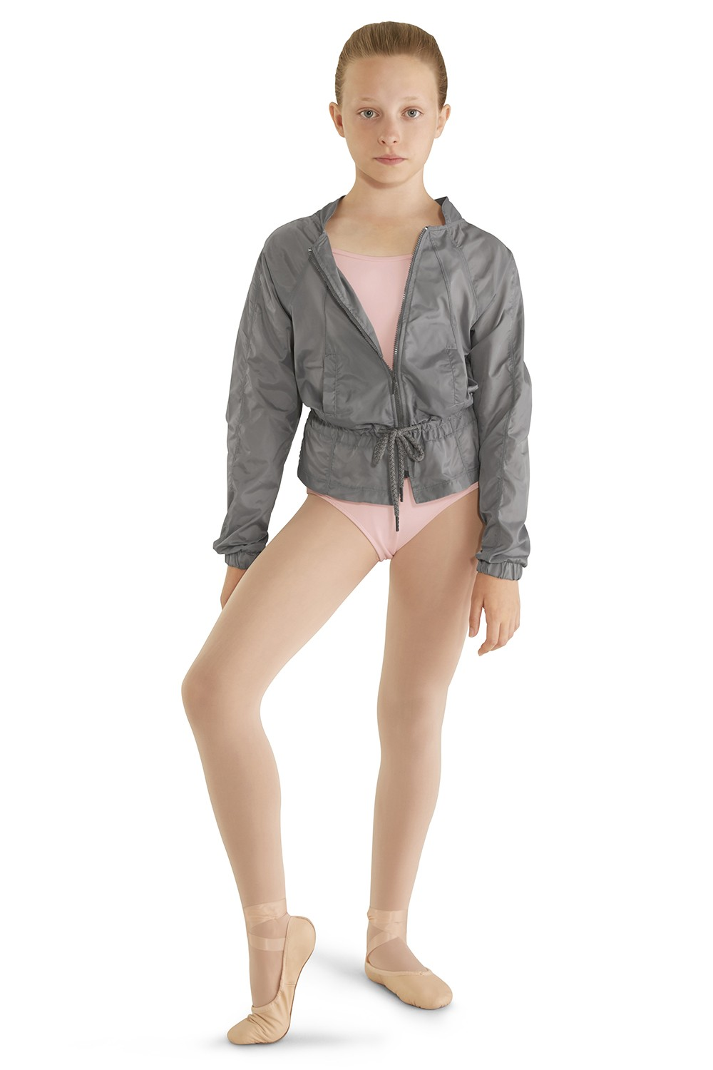 Ripstop Peplum Hem Jacket Children's Dance Warmups