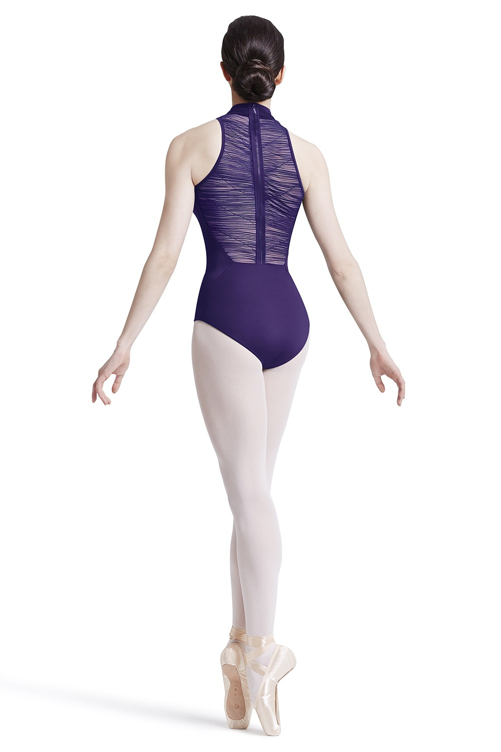 High Neck Zip Back Leotard Women's Dance Leotards