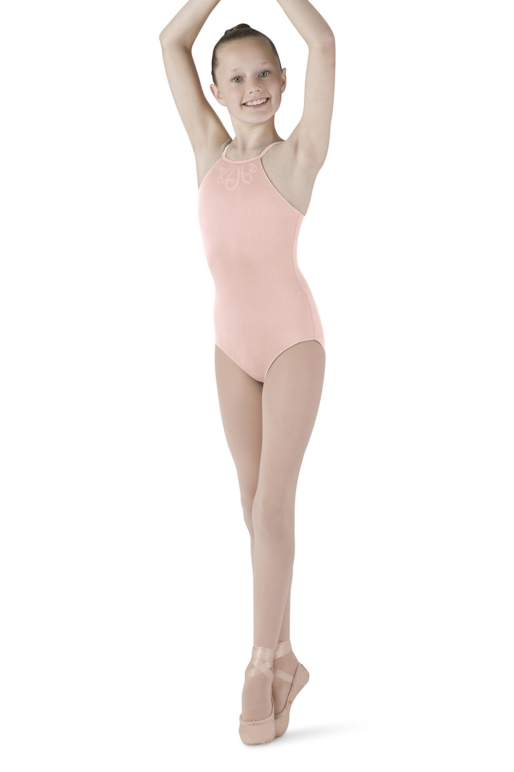 Diamante Swirl Halter Children's Dance Leotards