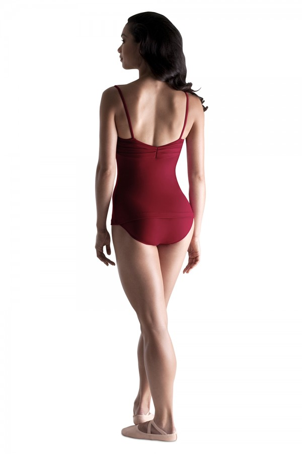 image - Pleated Top Leotard Womens Camisole Leotards