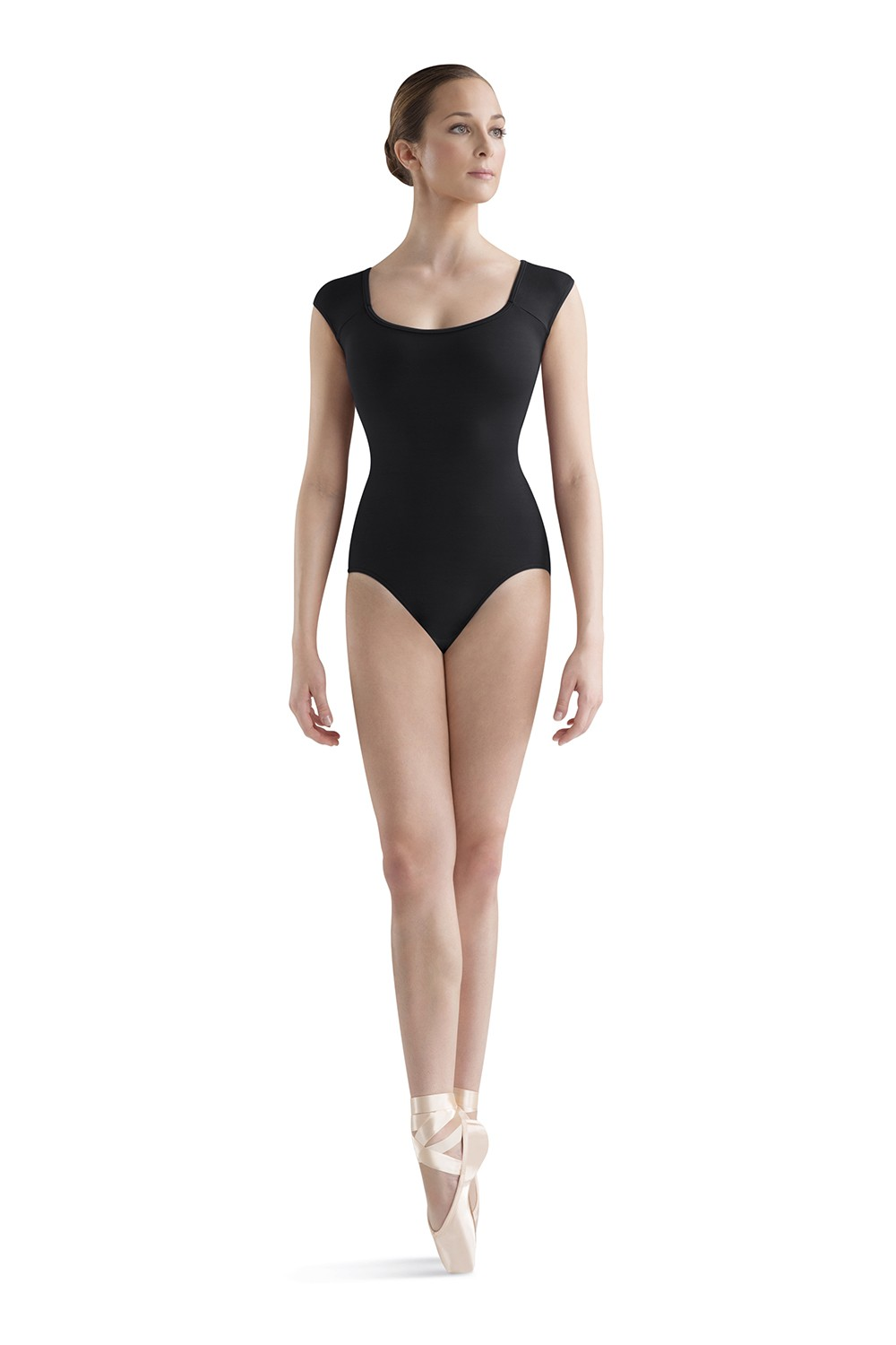 Wave Back Cap Sleeve Women's Dance Leotards