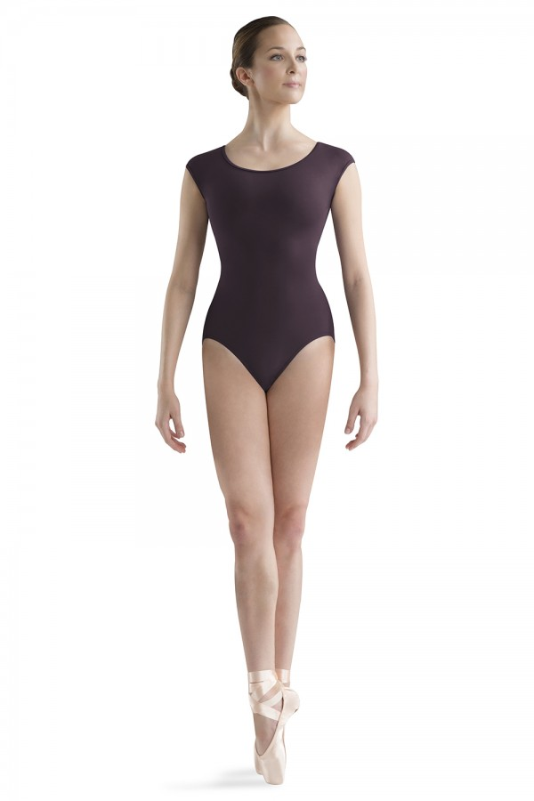 image - Cut Away Back Cap Sleeve Women's Dance Leotards