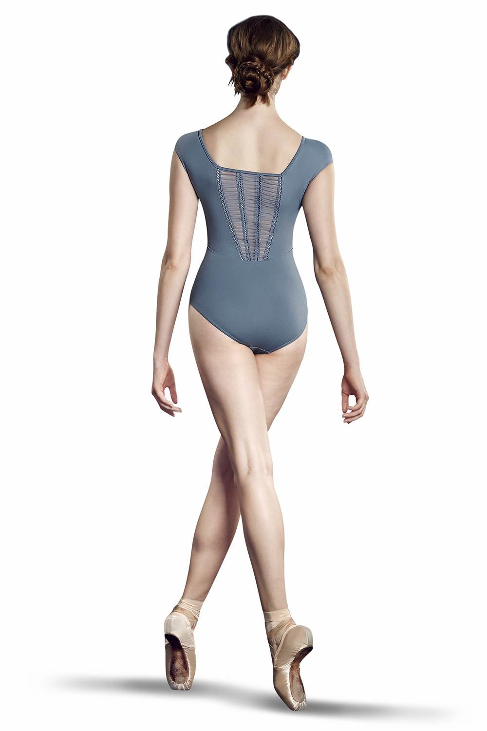 Mesh Bk Cap Slv Leo Women's Dance Leotards