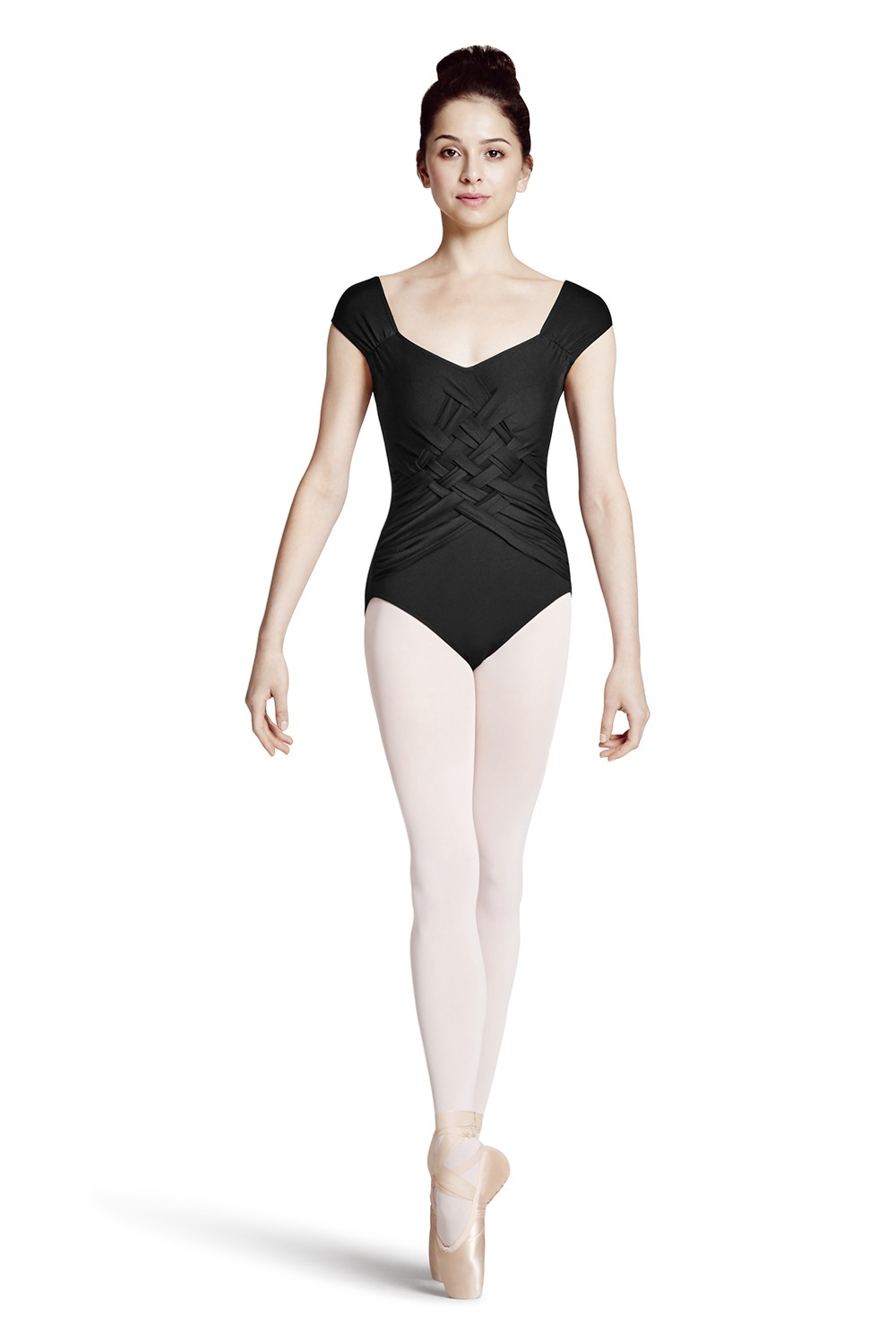 Body Con Maniche A Volant E Design A Intreccio Women's Dance Leotards