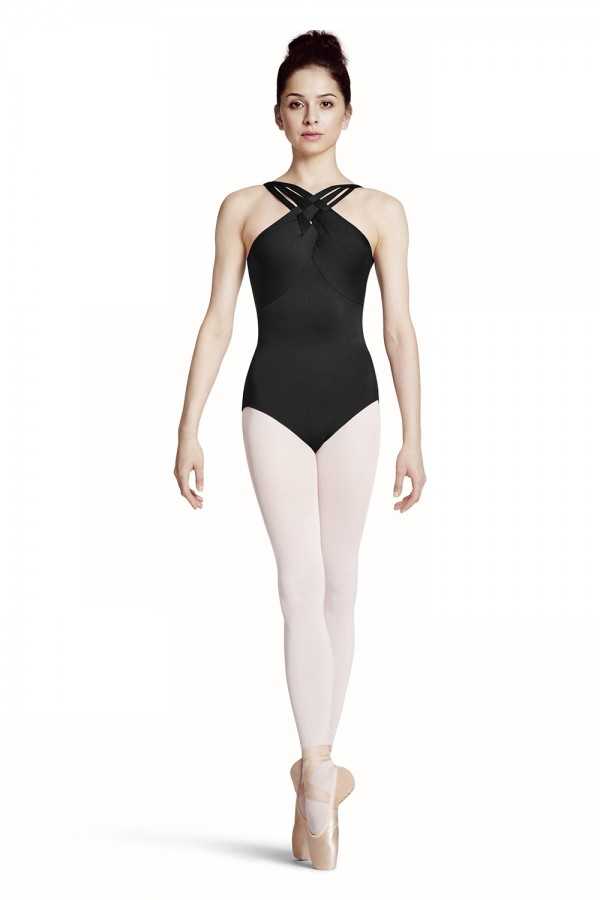 image - WAVE DETAIL WITH PLAITED STRAP CAMISOLE LEOTARD Women's Dance Leotards