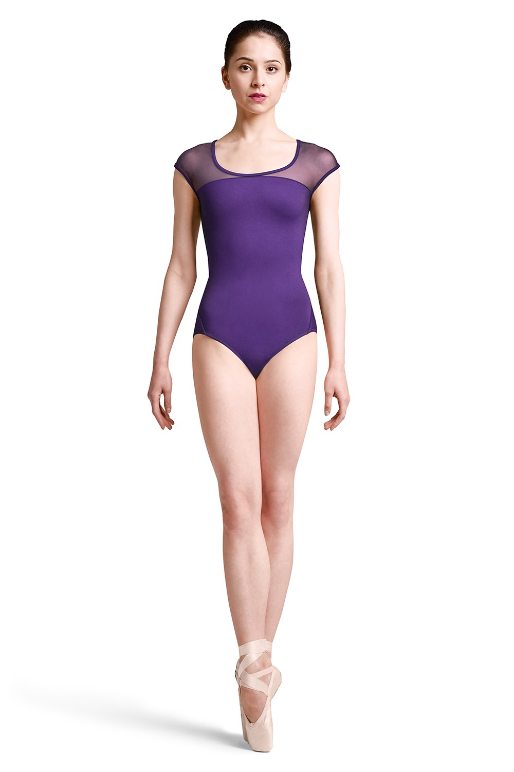 Justaucorps À Mancherons Tressé Au Dos Womens Short Sleeve Leotards