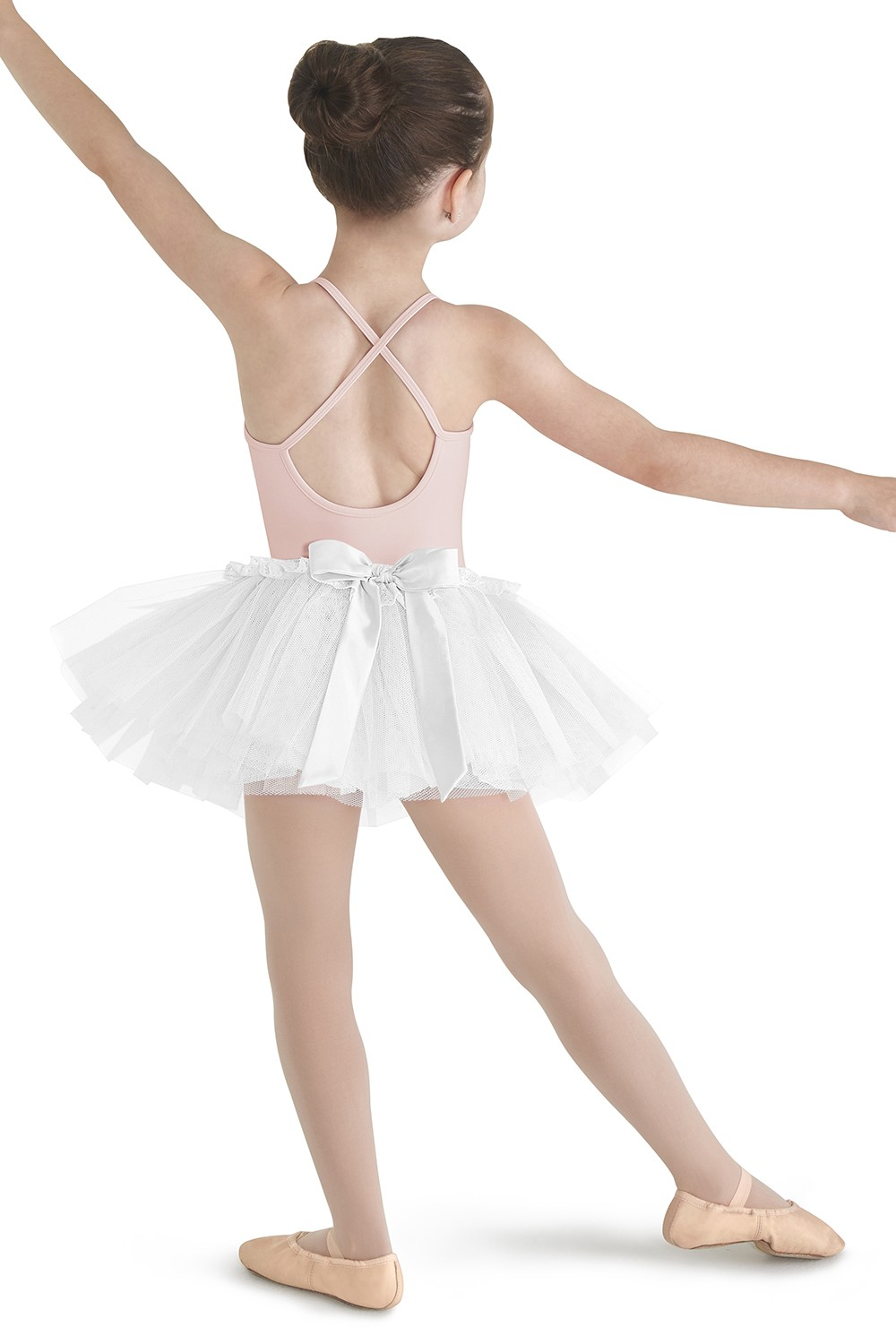 Satin Bow Back Tutu Skirt Children's Dance Skirts