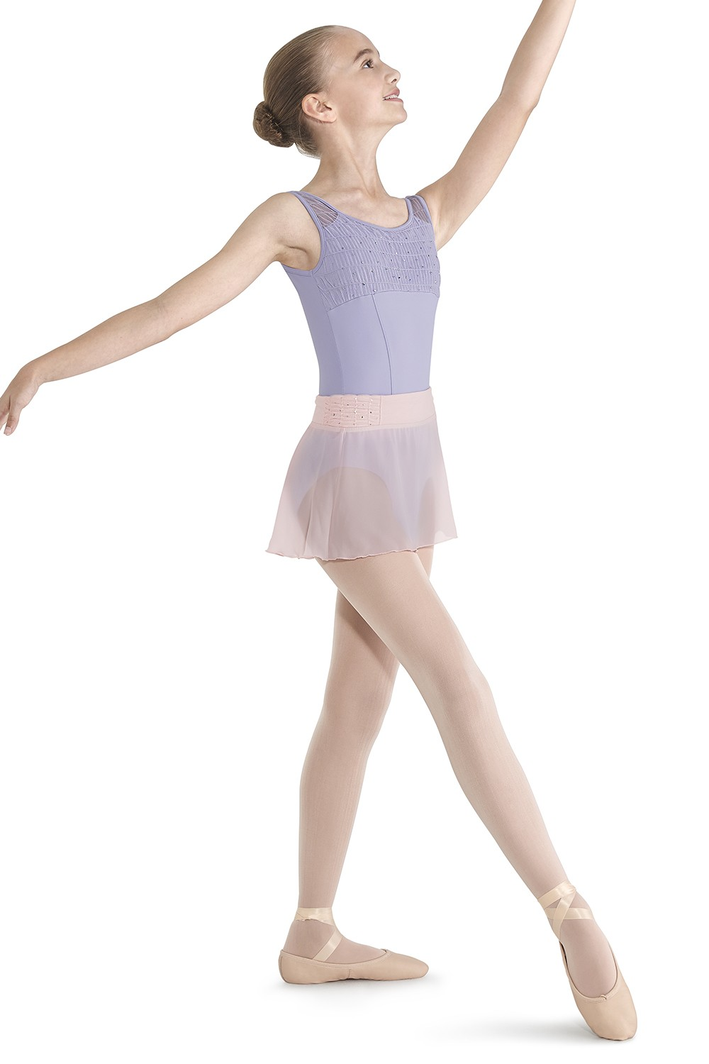 Crinkle Mesh Skirt Children's Dance Skirts