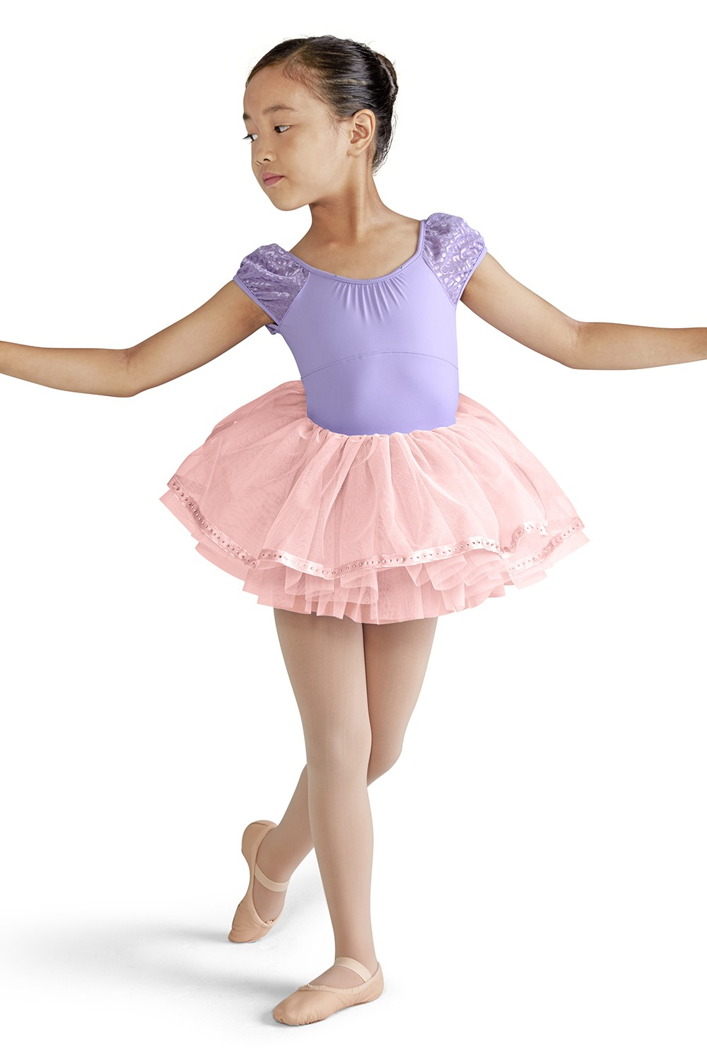 Ribbon Hem Tutu Skirt Children's Dance Skirts